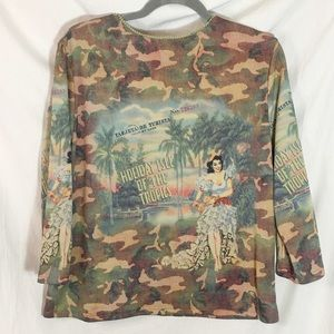 DB Sport Tops - DB Sport Camo Holiday Isle Top